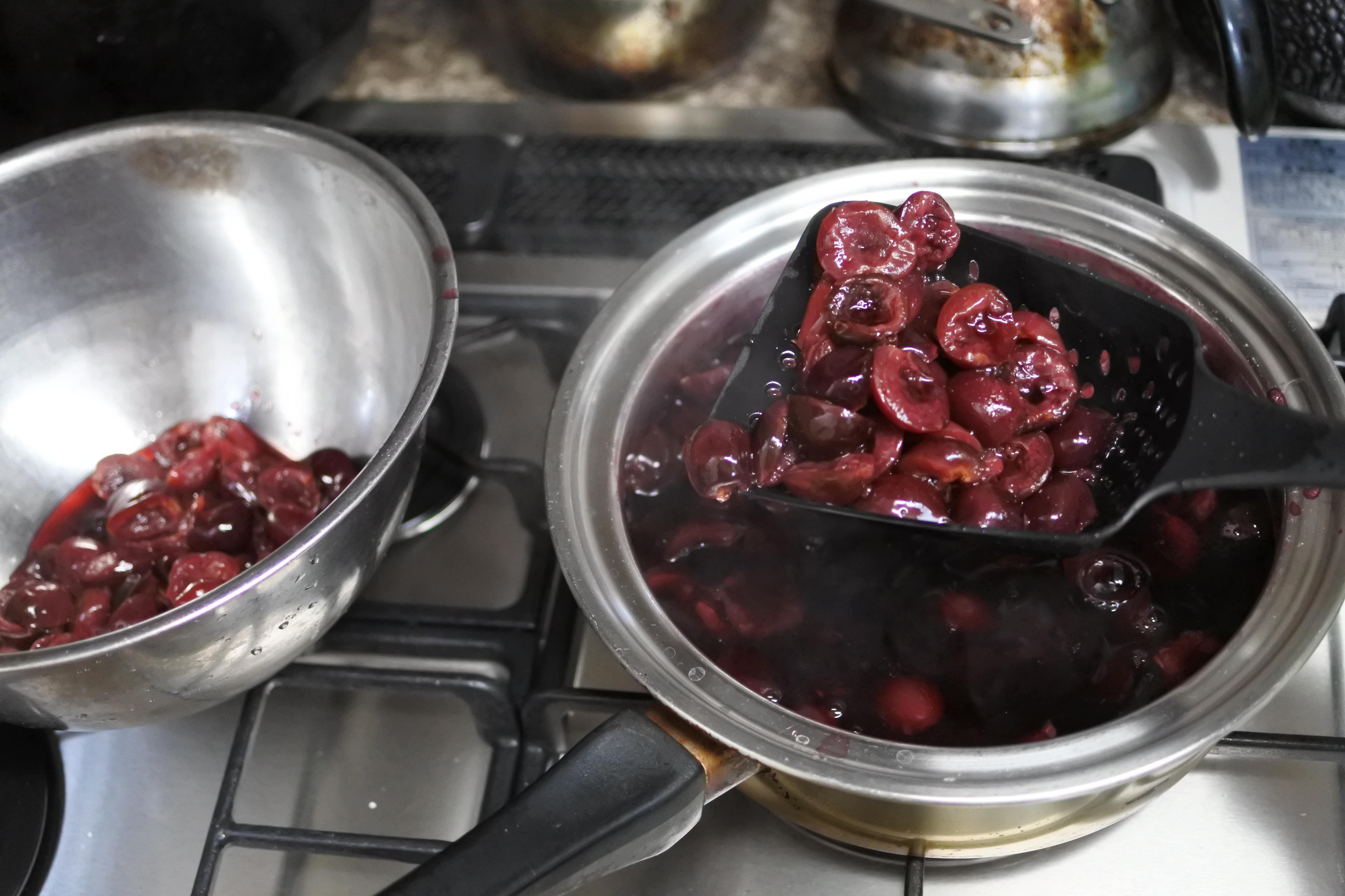 ジャム作り アメリカンチェリー レシピ 作り方