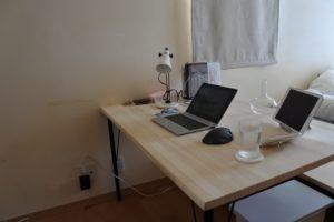【DIYブログ】PC(パソコン)デスクを自作!設計図は?天板は?アイアン脚は?