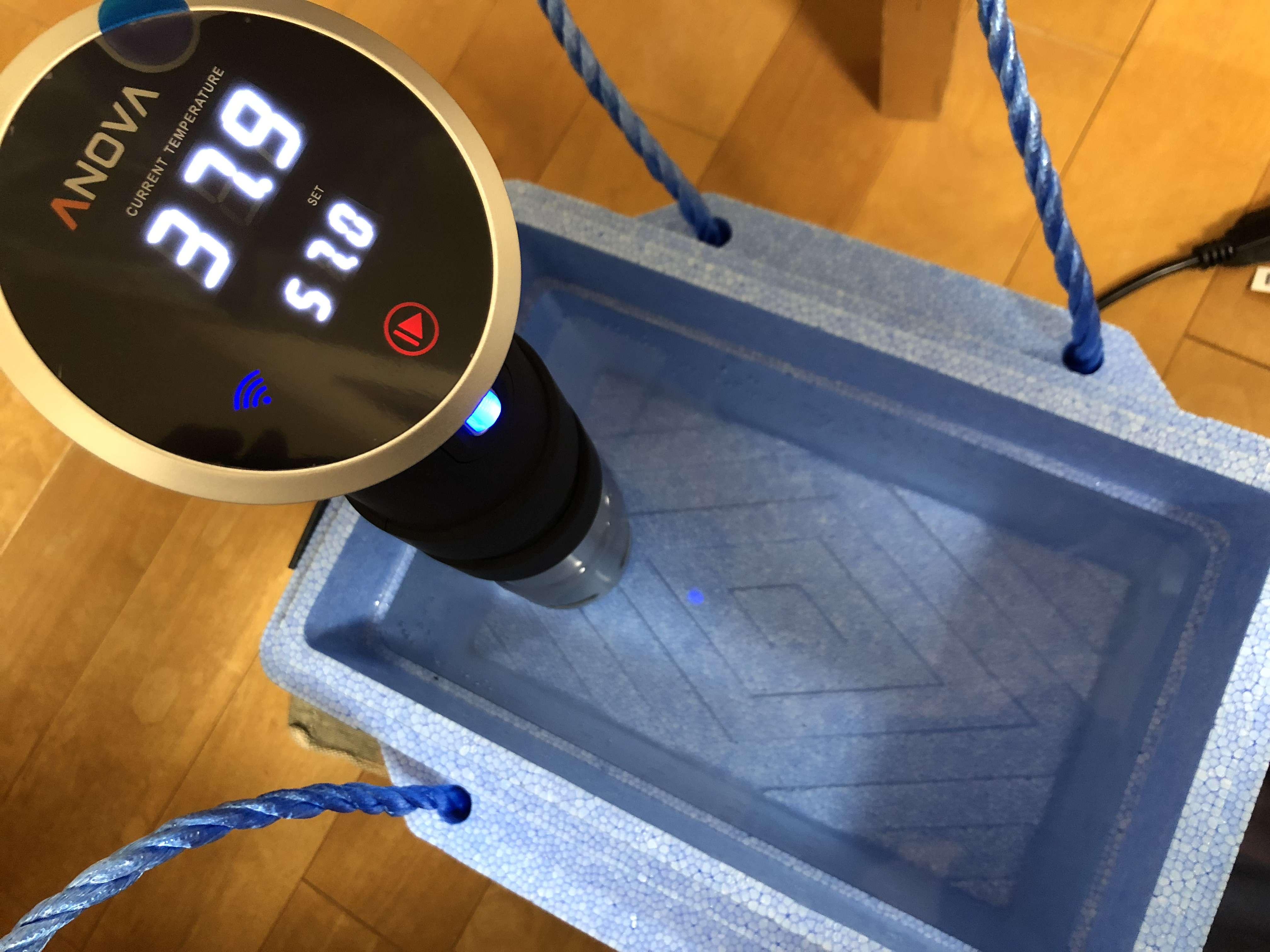 Anova アノーバ 低温調理器 レビュー 使い方 ローストビーフ 57℃ 3時間