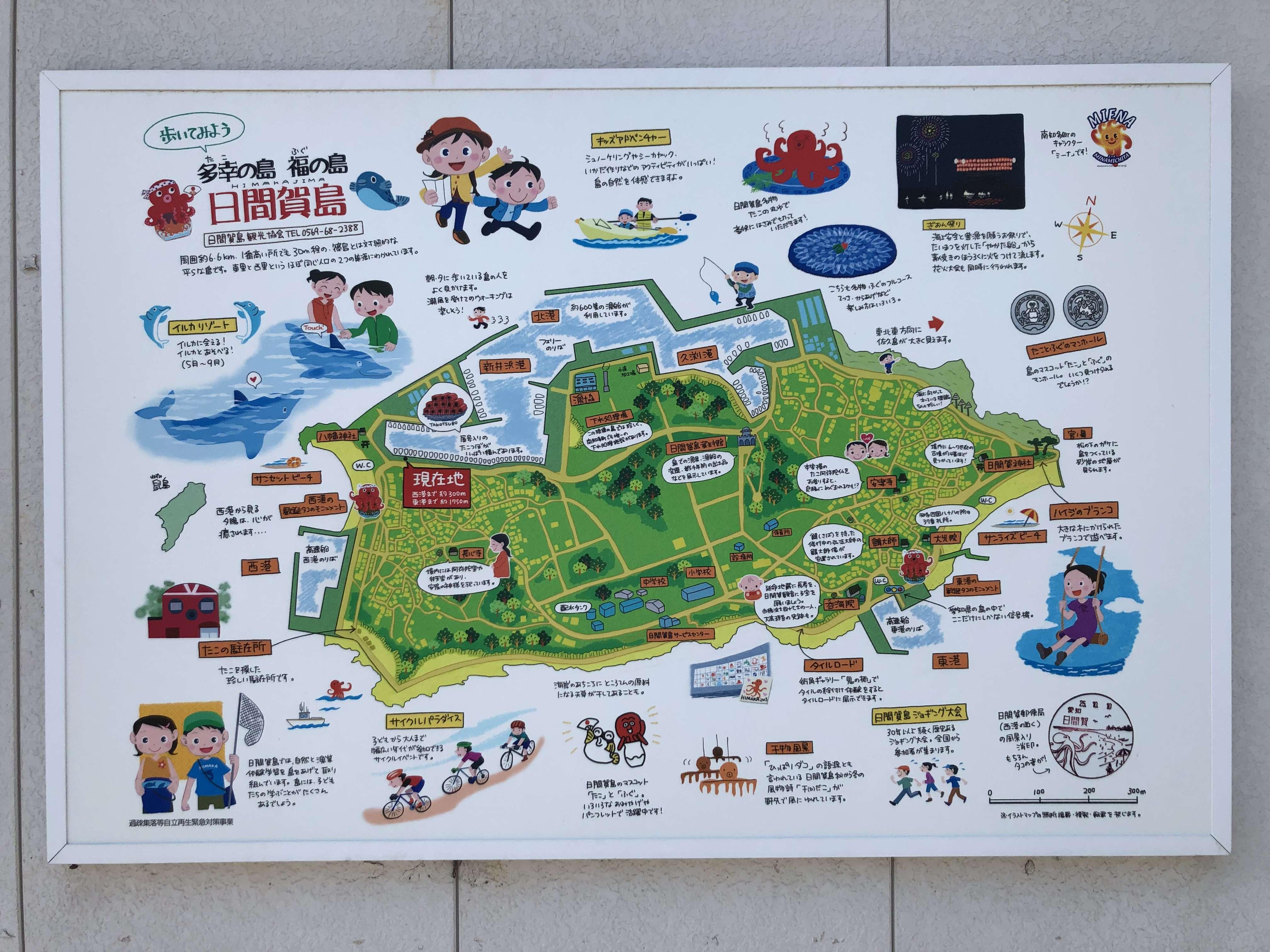 日間賀島 地図