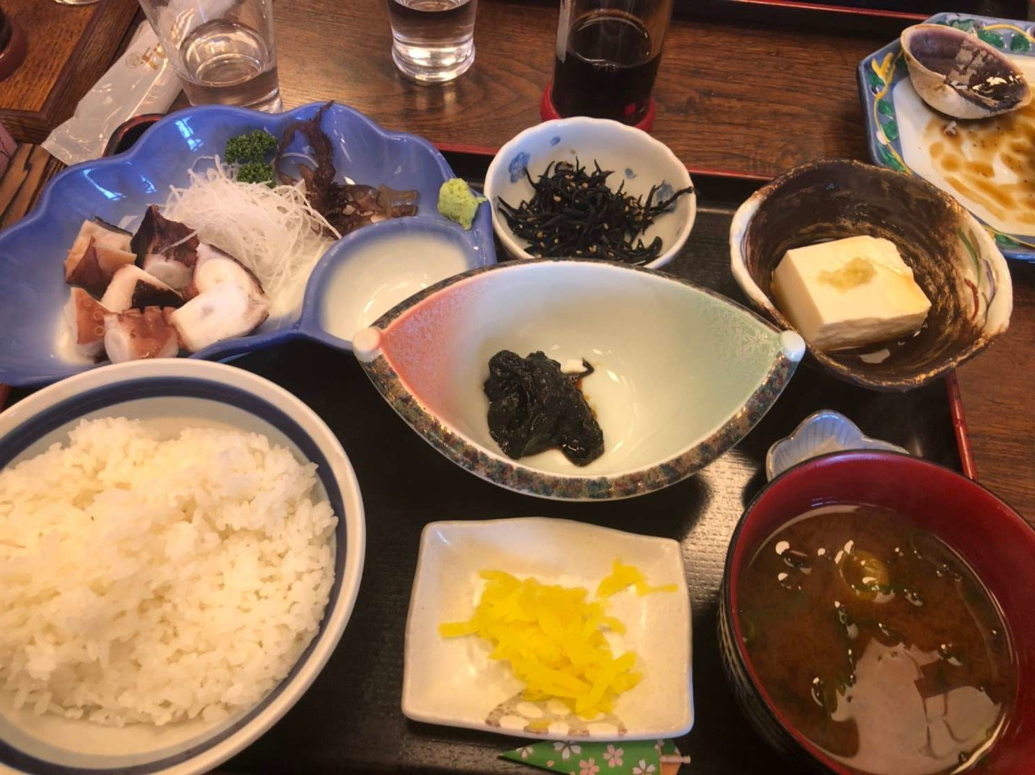 日間賀島 乙姫 たこぶつ定食