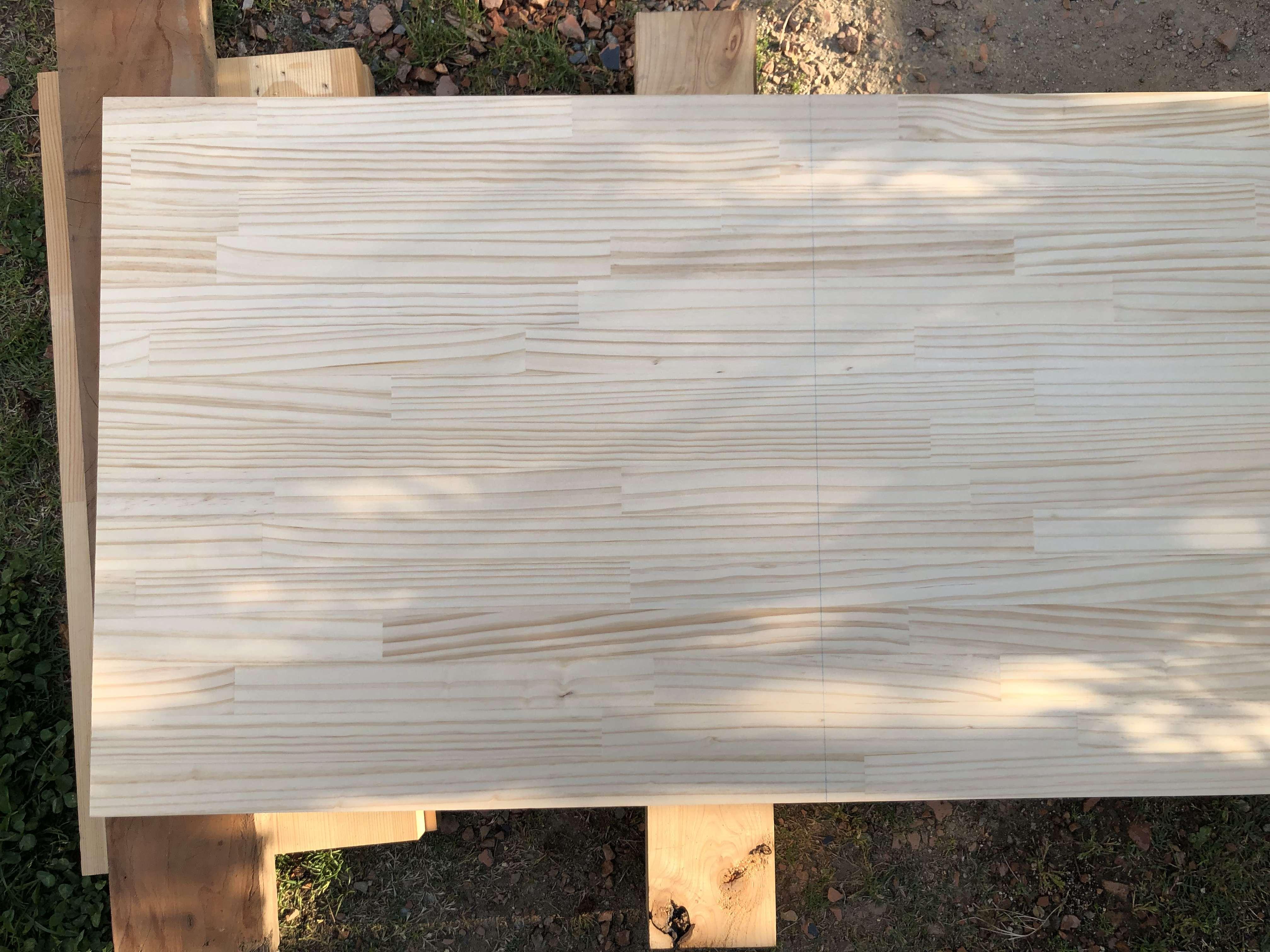 テーブル-DIY-作り方-パイン材-天板-切断
