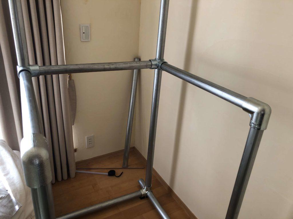 チンニングスタンド ディップススタンド 自作 単管パイプ ビス止めかん太くん ホームセンター